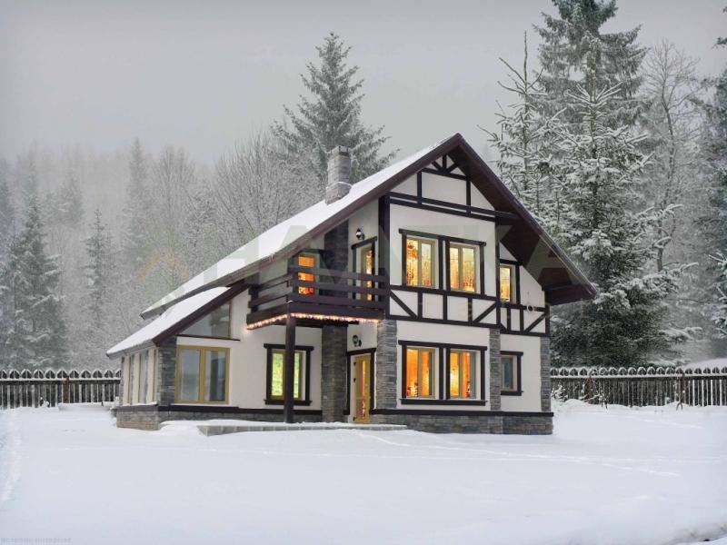 покрасить каркасный дом